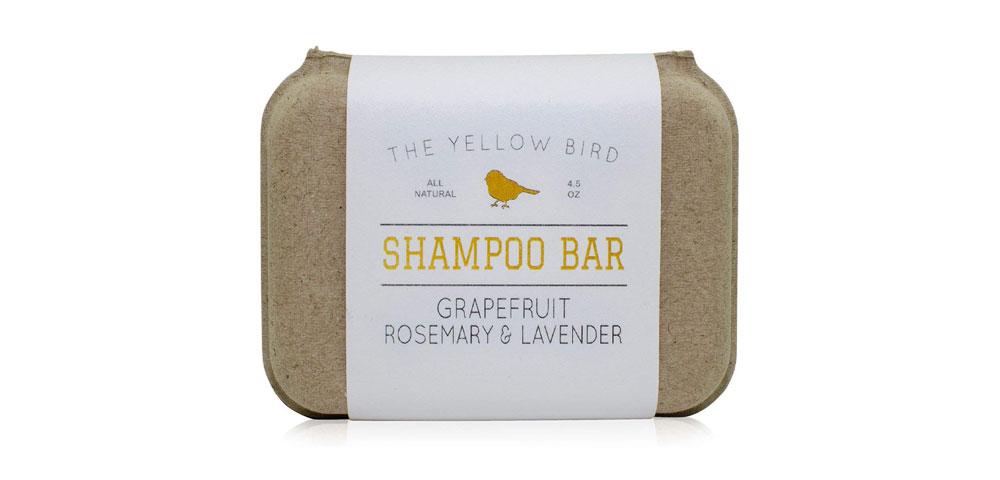 yellow bird shampoo bar